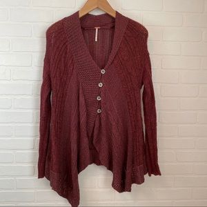 Free People Knitted Button Up Cardigan